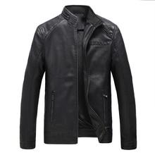 2018 Brand New Leather Clothing Mens Jacket Coat Fall Winter Biker Bomber male Jacket thin men's Jackets Men PU Warm coats