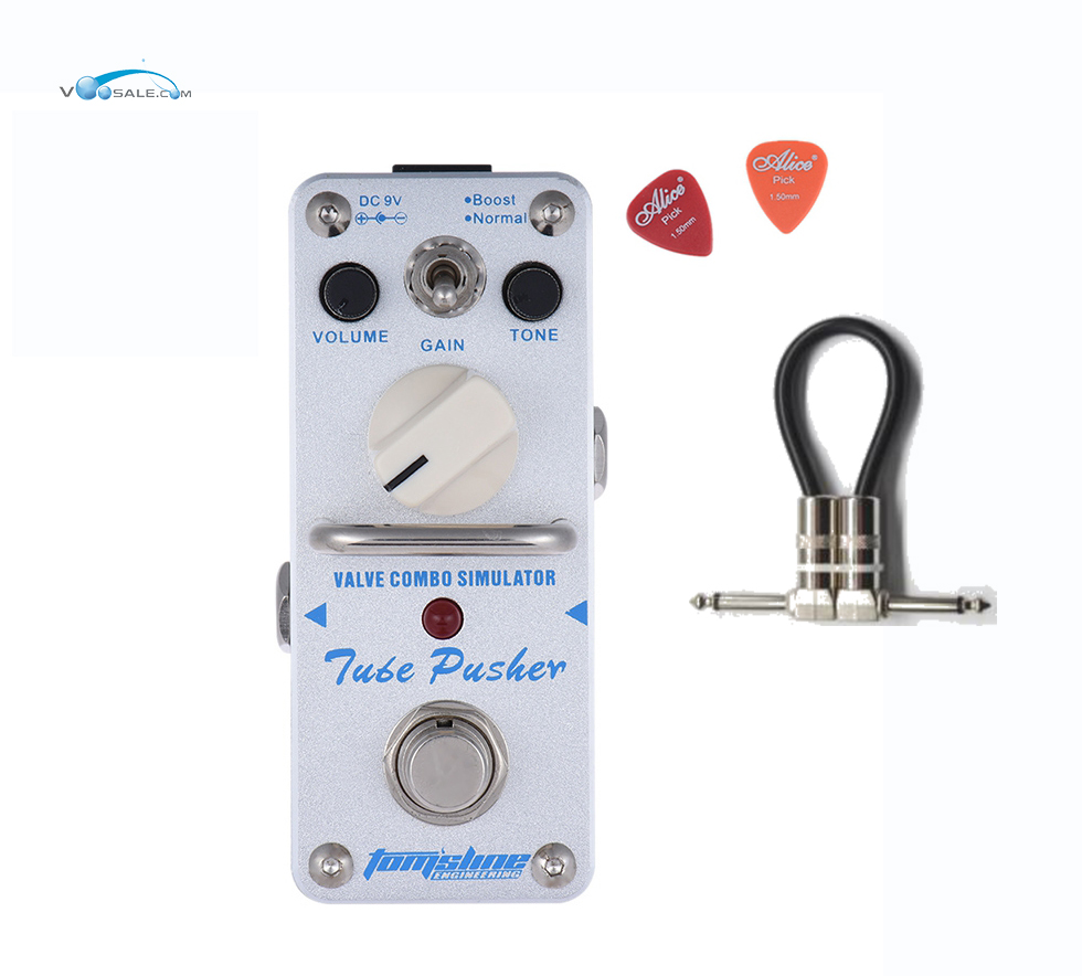 Aroma ATP-3 Tube Pusher Valve Combo Simulator Guitar Effect Pedal Mini Single With True Bypass Guitar Parts+One Free Cable aov 3 ocean verb digital reverb electric guitar effect pedal aroma mini digital pedals with true bypass guitar parts