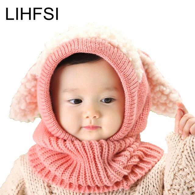 LIHFSI Puppy Dog Ears Baby Cap Men Women Fall Winter Children Boy Headwear Beanie  Ear Kids 30ccb590620