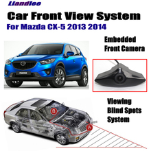 Liandlee For Mazda CX-5 2013 2014 Car Front View Camera Logo Embedded Camera / Cigarette Lighter / 4.3 LCD Monitor Screen