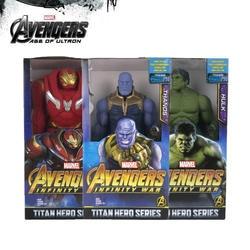 30 см Marvel Мститель эндигра фигурка супергероя Тор танос Росомаха Человек-паук Железный человек Капитан Carol Danvers фигурка игрушки куклы