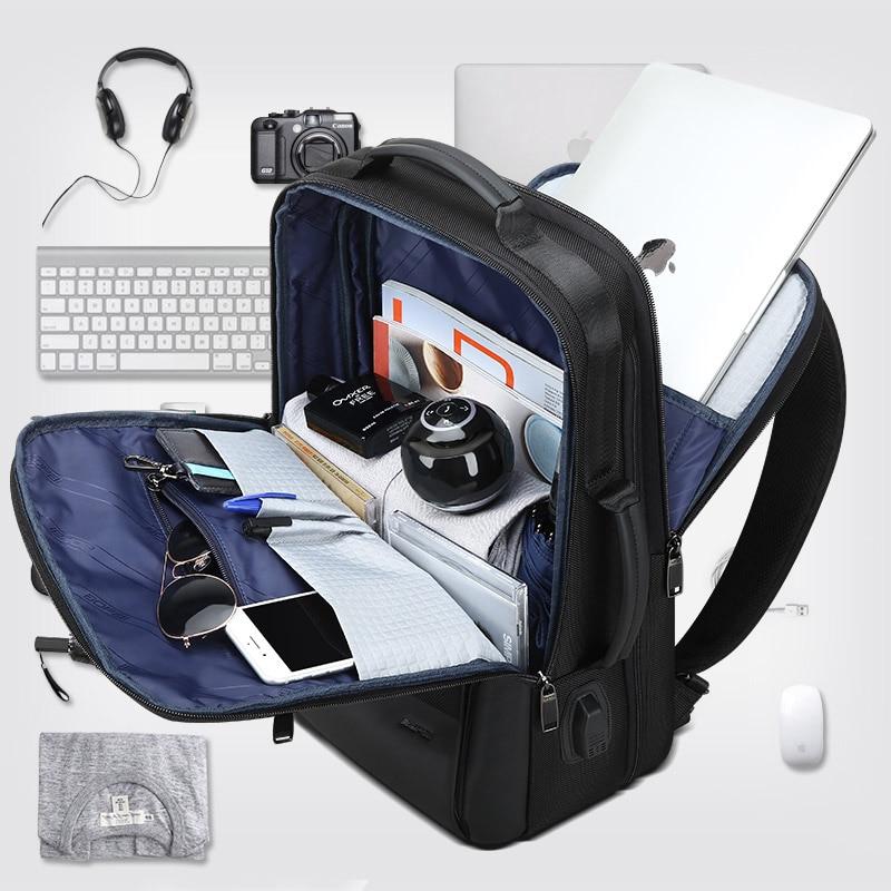 BOPAI Men Backpack Expandable Weekend Travel Backpack Men Water Repellent Laptop Backpack Computer Back Pack Male Bagpack 3