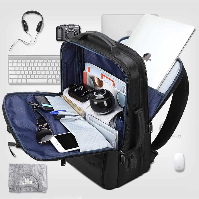 Bopai Mannen Rugzak Uitbreidbaar Weekend Reizen Rugzak Mannen Waterafstotend Laptop Rugzak Computer Rugzak Mannelijke Bagpack