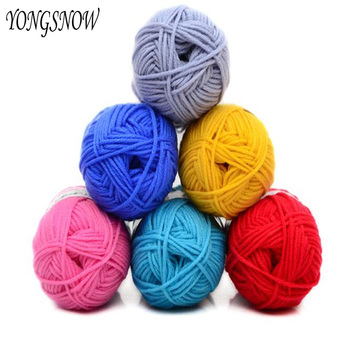 50g suave Natural suave bebé Cachemira seda tejido de lana a mano hilo de ganchillo bola de lana artesanal moda de invierno