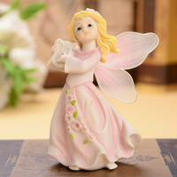 1pcs Europe Resin Lovely angel doll miniature figurines tabletop arts and crafts Living room children's room home decoration