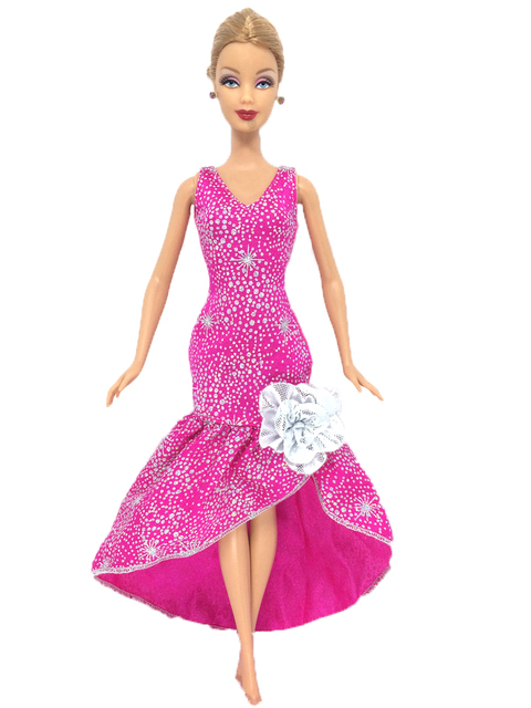 NK Satu Set Pakaian Boneka Buatan Tangan Fashion Gaun Rok Pesta Gaun untuk Boneka  Barbie Gadis f68751a15b