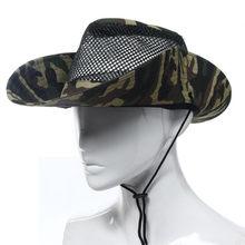 da03ece773326 Men Camping Hiking Fishing Hat Womens Hat Army Green Outdoor Sunshade Mesh  Sunshade Bucket Hat Cap Nove11
