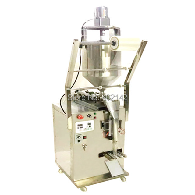3 side seal SMBJ-600VS liquid packing machine with vertical stirring for poor flow paste