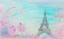 portrait cloth Computer printed Paris Eiffel Tower backdrop Fairy Tale Children Photography Backgrounds