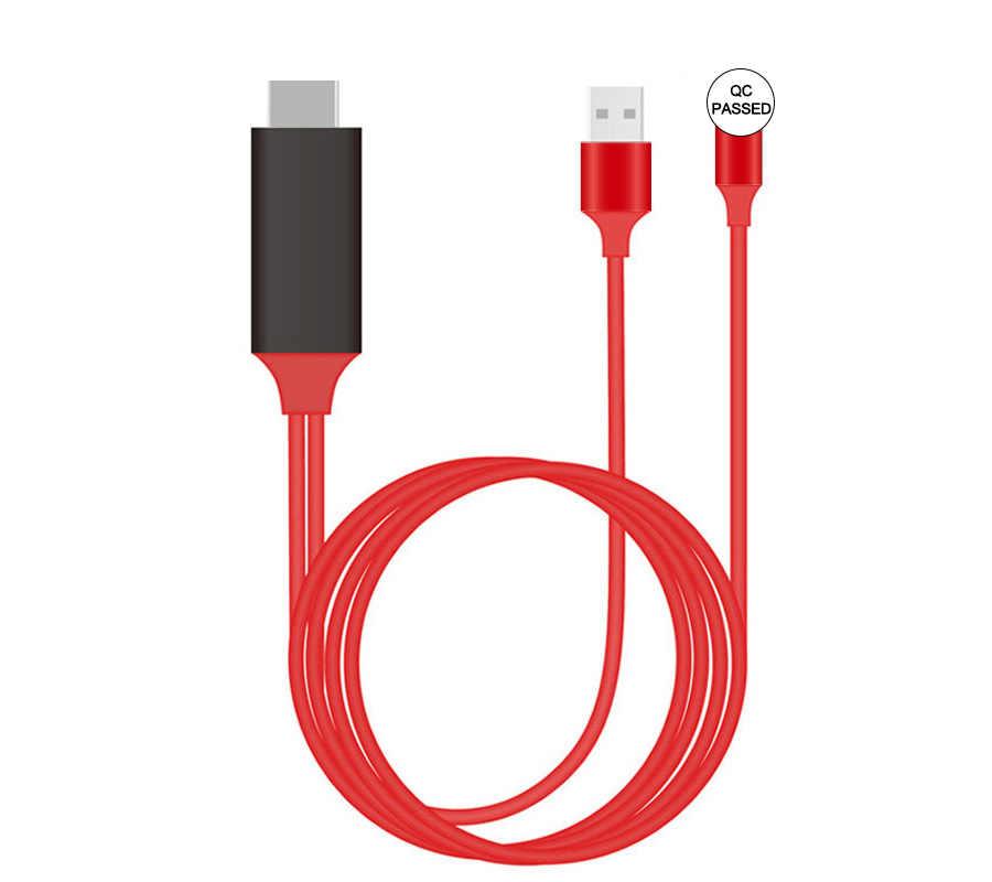 TV Stick L7 Kabel untuk iPhone 7 8 6 Plus 1080P HDMI Dongle Miracast Airplay Mirroring USB HDTV Digital AV Adaptor untuk iPhone