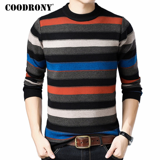 coodrony thick warm christmas sweater men 2018 winter new arrival casual o neck sweaters knitted - Christmas Sweaters Men