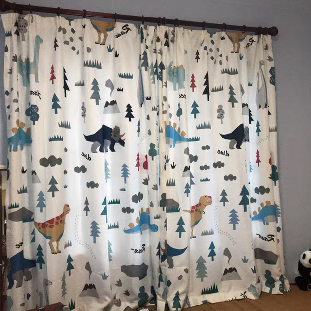 Dinosaur curtains for kids room