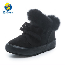 Winter Baby Girls Boys Snow Boots Warm Outdoor Children Boots Waterproof Non-slip Kids Plush Boots Infant Shoes  toddler boots