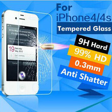 Ultra Thin 0 26mm 2 5D Premium Tempered Glass Screen Protector For iPhone 4 4S HD