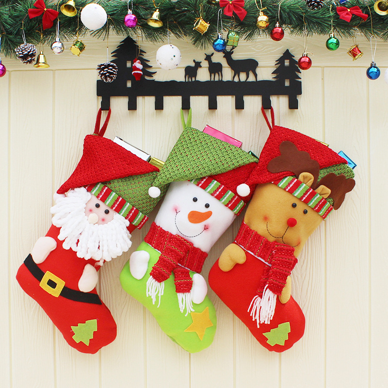 Christmas Gifts For Children Stockings Socks Decoration Cute Candy Bag Tree Ornaments Decorations In Gift Holders From