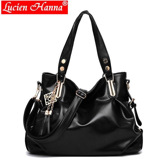 351353bf1b08 Designer Women Handbag Female PU Leather Bags Handbags Over Shoulder Bag  Ladies Portable Messenger Bag Office Ladies Hobos Totes