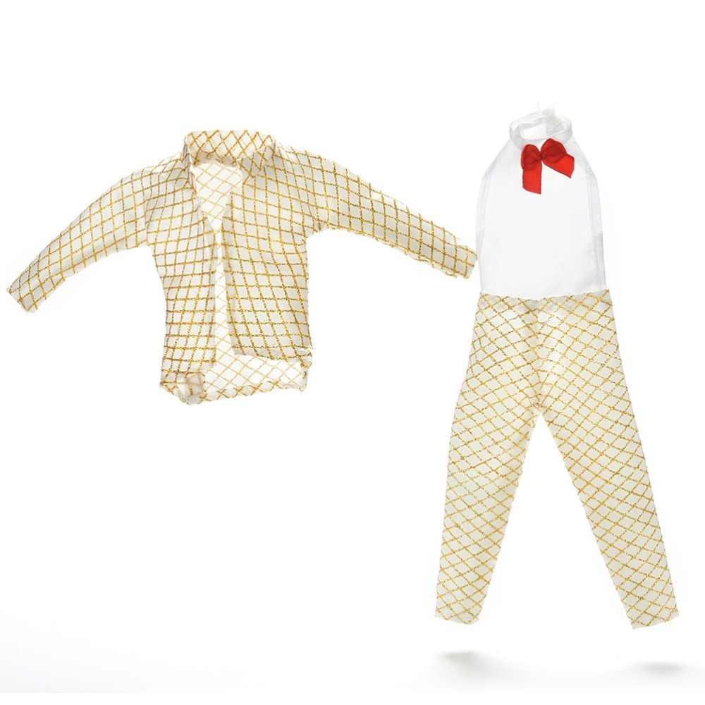 Лидер продаж, 1 комплект, мужские куклы, одежда ручной работы для девочек, куклы Кен, Золотой выходной костюм Одежда для принц Кен, аксессуары