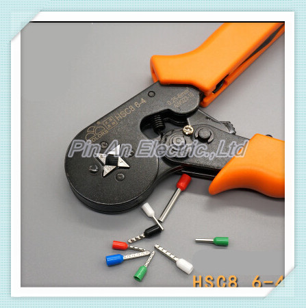Superior quality HSC8 6-4 MINI-TYPE SELF-ADJUSTABLE CRIMPING PLIER 0.25-6mm2 AWG 23-10 terminals crimping tool multi tool pliers