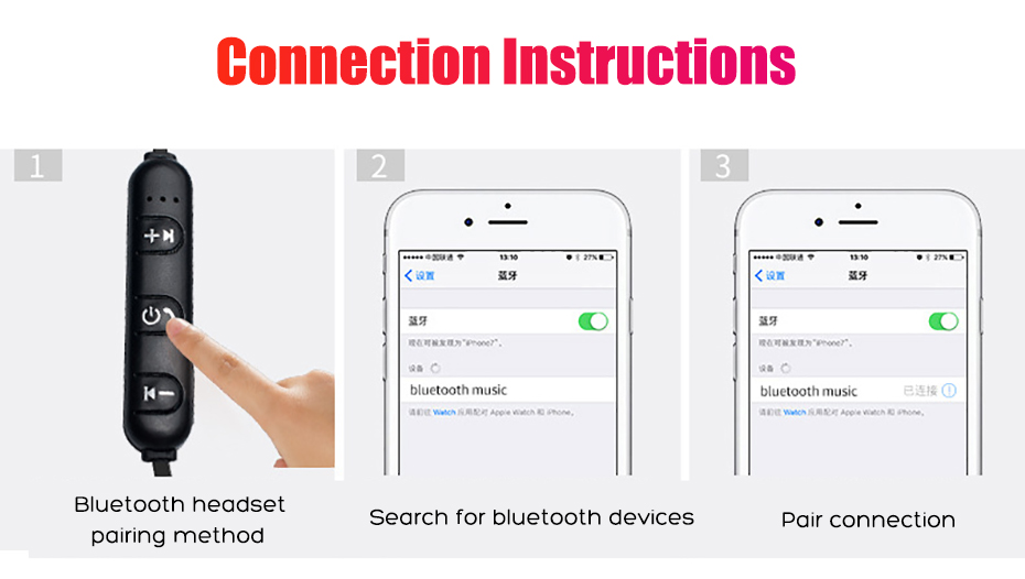 Newest Wireless Headphone Bluetooth Earphone Headphone For Phone Neckband sport earphone Auriculare CSR Bluetooth For Smart Phone 008