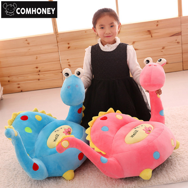Children Dinosaur Sofa Cartoon Stuffed Plush Dragon Feeding Chair Seat For  Baby Furniture Bebes Floor Seat