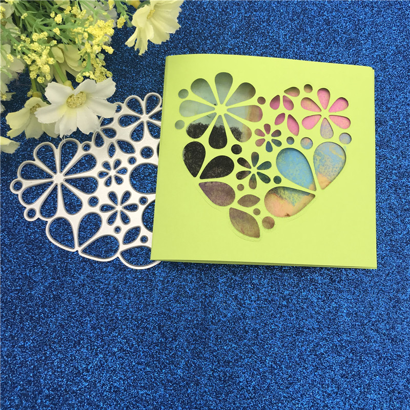 Heart Arch  Metal Cutting Dies DIY Craft Stencil Scrapbooking Paper Card Decor