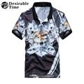 Hombres 3d estilo animal patrón de impresión camisa de polo de manga corta 2017 verano para hombre de hip hop polo camisas dt498