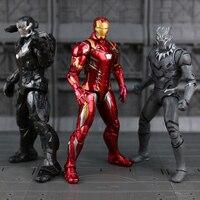 Disney Marvel 7 Legends Civil War Iron Man Captain America Black Panther Vision Falcon Iron Man