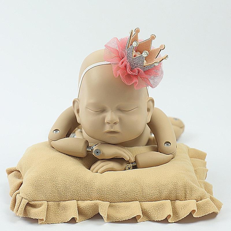 Rode pasgeboren hoofdband fotografie Haarbanden baby bloem parel - Babykleding - Foto 4