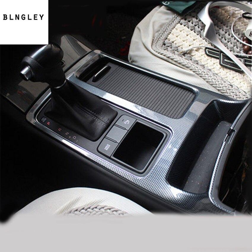 1 pc couverture de décoration de panneau d'engrenage de grain de fibre de carbone d'abs pour 2015-2018 accessoires de voiture de KIA Sorento
