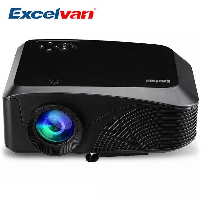 Excelvan led4018 проектора обновленный gm60 Портативный 1200 люмен 800*480 Max 130 ''3D с HDMI USB VGA AV TF Интерфейс дома Театр