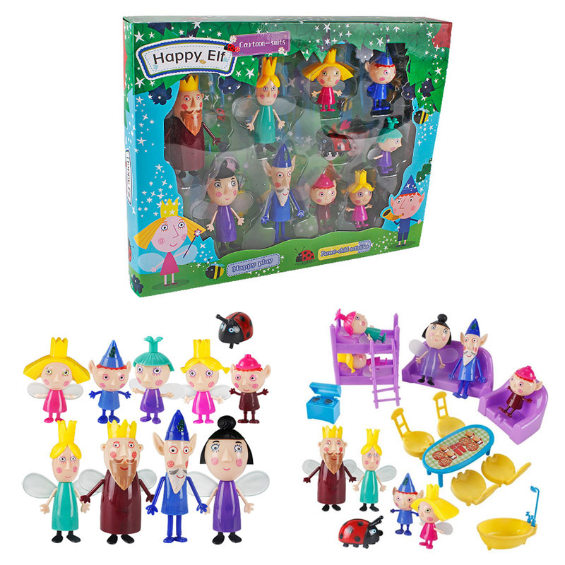 Ben And Holly Anime Figuras Set PVC ben holly Cartoon Figure Toys for Kids
