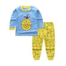 48ecccb422460 2019 Children's Clothing Sets Baby boy's girls pajamas suit cartoon  sleepwears Kids fruit sets long sleeve shirts+pants 2pcs