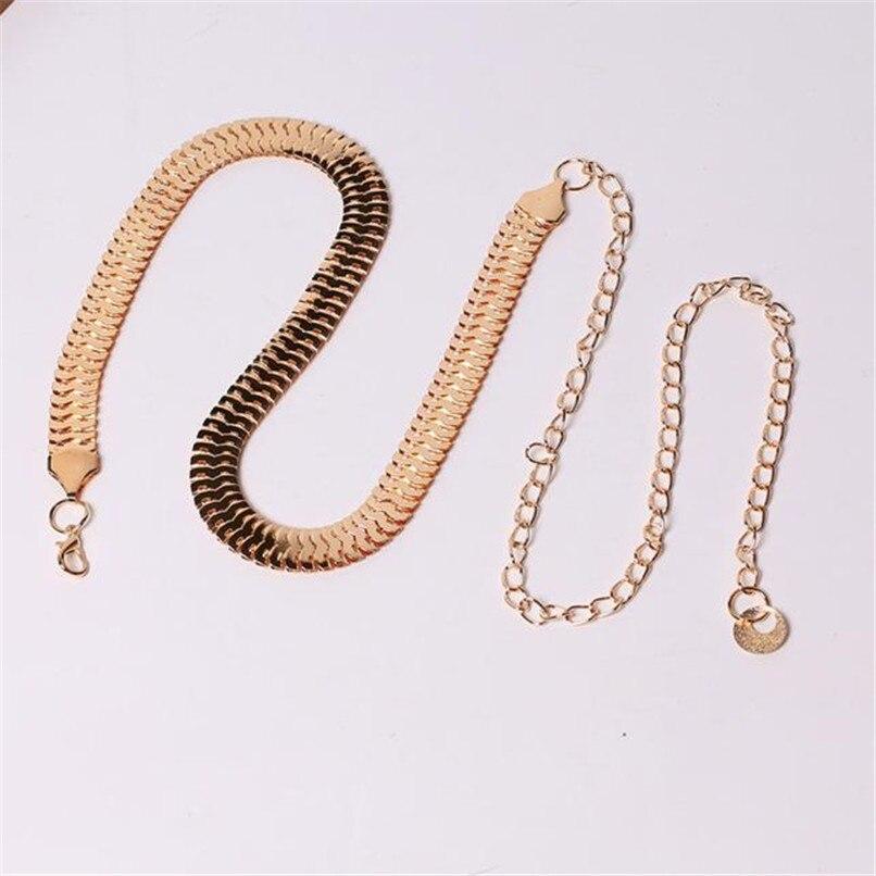 Women\'s Lady Fashion Metal Chain Pearl Style Belt Body Chain  Belts For Women Dresses Waist Belt Women Slim 40AG303