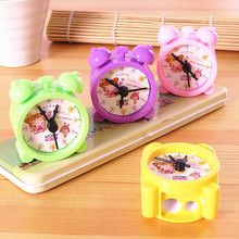 cute cartoon clock creative student prize double hole pencil sharpener 5.5*5*3cm just one piece
