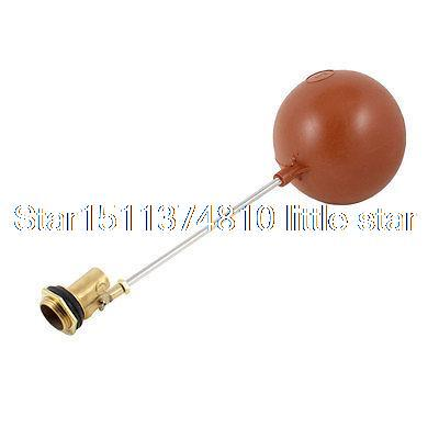 Tank Pool Liquid Level Red Plastic Floating Ball Float Valve 1 PT Threaded 1 pt thread water sensor float plastic float valve floating ball