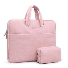 Мягкий портфель сумка для ноутбука из искусственной кожи 15,6 водонепроницаемый чехол для ноутбука Macbook Air Pro retina 13 чехол Аксессуары