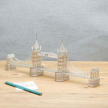 FREE SHIPMENT J47 LONDON TOWER BRIDGE STATUES/MODEL STAINLESS HAND-MADE ART CRAFTS WEDDING&BIRTHDAY&HOME&OFFICE&GIFT&PRESENT