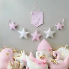 Nordic Baby Room Handmade Nursery Star Garlands Christmas Kids Wall Decorations Photography Props