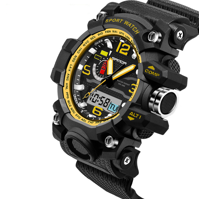 Top Brand Mens Sports Watches LED Digital Watch Fashion Outdoor Waterproof Military Men's Wristwatches Relogios Masculinos 2016