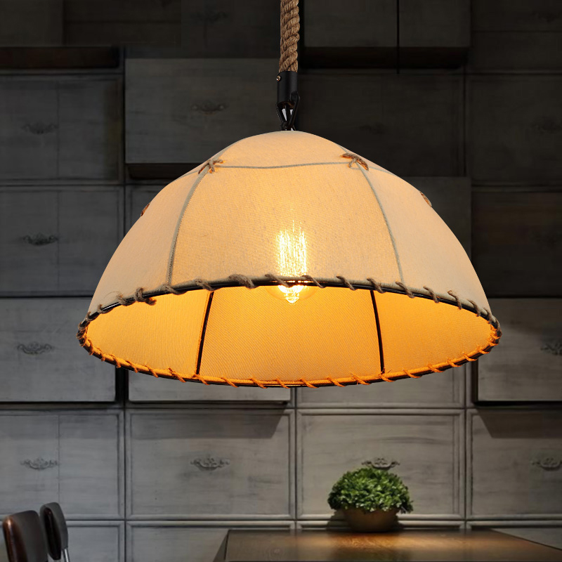 black rope vintage industrial pendant light nordic retro lights iron loft edison lamp metal cage dining room Countryside black iron bird cage big size lampshade pendant light e27 ac110v 220v industrial edison pendant lamp retro loft lighting