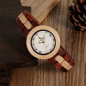 Image 3 - ボボ鳥女性クォーツ時計レロジオ feminino ファッションブランドレディー腕時計女性ギフトボックス木製ストラップ