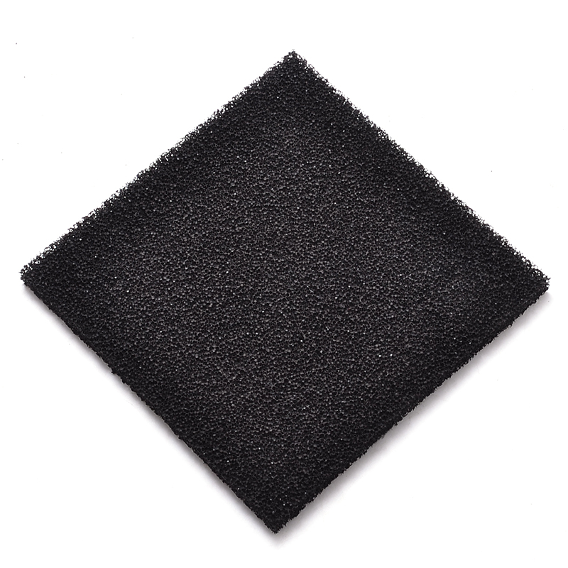 2 Pieces Black Foam Sponge Air Impregnated Sheet Activated Carbon Removal Filter For Electronic Soldering Fume Exhauster 13x13cm