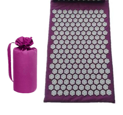 Acupuncture Massage Mat With Bag Yoga Mat Acupressure Mat Relieves Stress Pain Massage Cushion for Back Neck
