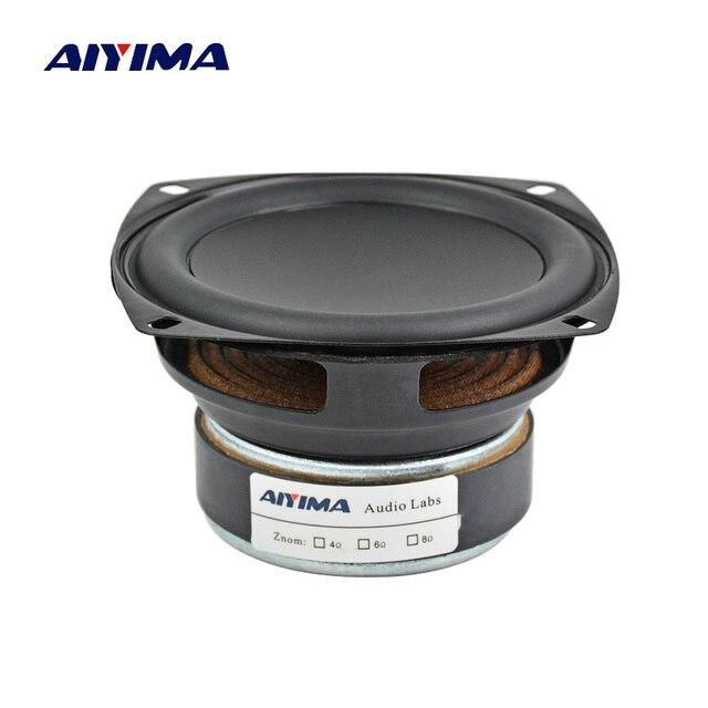 AIYIMA 1Pcs 3.5 Inch Full Range Speaker HIFI  8 O hm 20W Bass Speaker Driver Audio Loudspeaker For Car Modification DIY