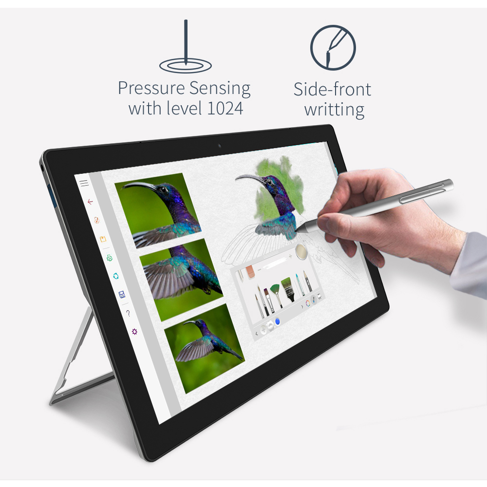 Image 2 - 2 in 1 Tablet PC Jumper EZpad Go 11.6 inch IPS Display windows tablet 4GB RAM 64GB/128GB Intel Apollo Lake N3450 tablet with pen-in Tablets from Computer & Office