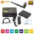 Sintonizador de Tv receptor de satélite Wifi internet V8 USB Wifi y Freesat V8 Oro Combo DVB-S2 + T2 + C TV Vía Satélite Cccamd receptor Soporte IPTV libre