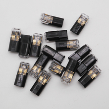 Free Shipping 20 Pcs 2 Pin Way Spring Scotch Lock Connector 24-18AWG Wire for LED Strip Quick Splice Connector Cable Crimp все цены