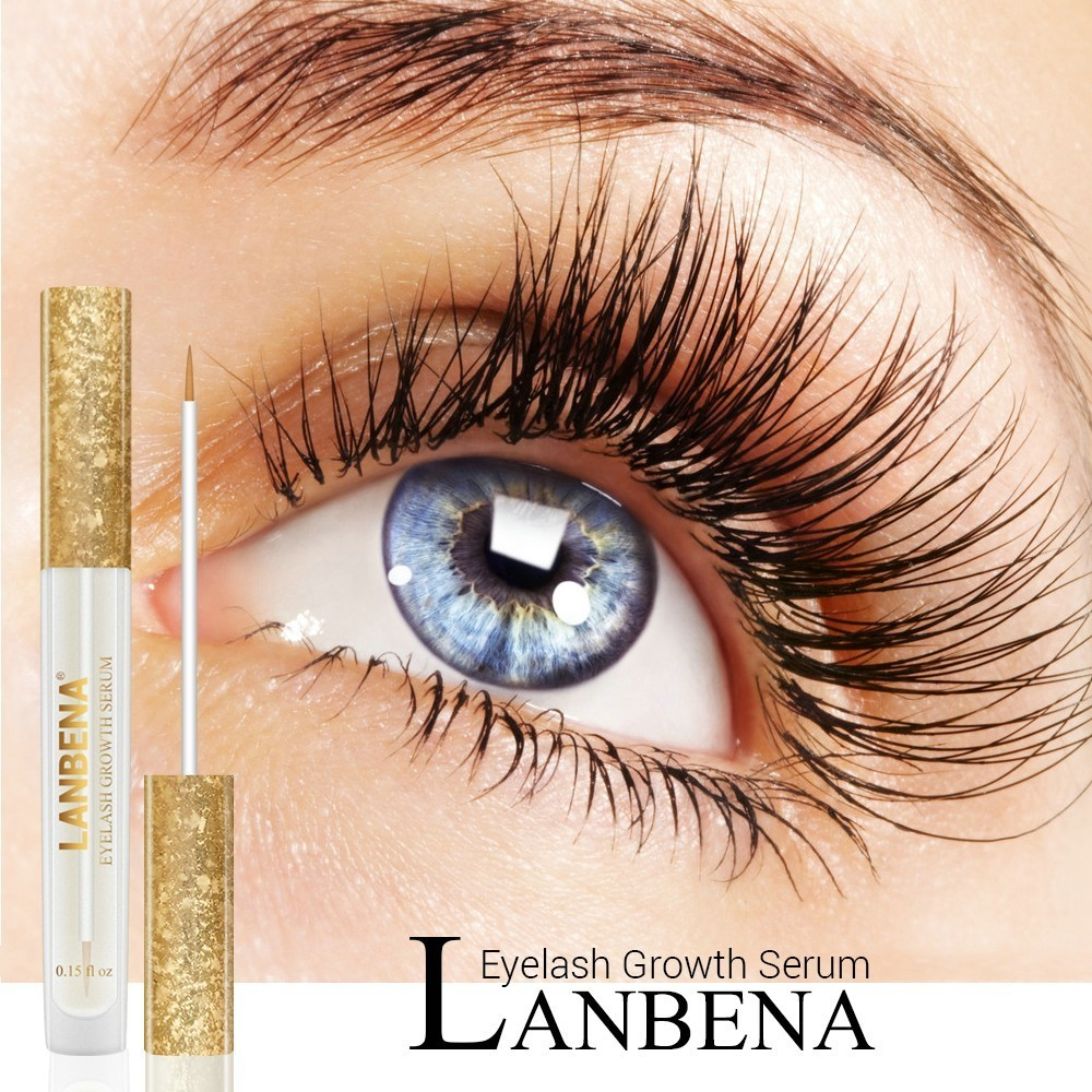 LANBENA Eyelash Enhancer Serum Eyelash Growth Essence Eye Care Treatment Lash Lifting Oil Hair Curling Thicker Longer Makeup