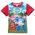 2017 nuevas camisas 100% de algodón de dibujos animados niños niños bebé camiseta de verano para niños niños niñas camisetas ropa
