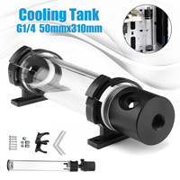310mm Cylinder Water Tank +G1/4 Thread 19W Pump Computer Water Cooling Radiator New Computer Water Cooling Cooler For CPU